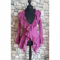 Volant Cardigan Gypsy Style  Farbe pink