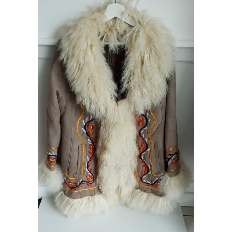 Hippie Gypsy Mantel Jacke nude