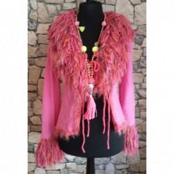 Cardigan Bohemian Style Farbe Pink