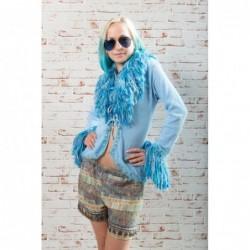 Cardigan Bohemian Style  Farbe Blau